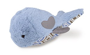 82000 Durable Whale Dog Toy with Treat Pocket, Blue
