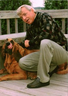 Gregg Miller, inventor of Neuticles, and his Bloodhound, Buck, the inspiration behind the innovative implant that's changing the world for dogs.