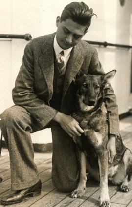 Morris Frank and Buddy. Image via TN State Library & Archives.